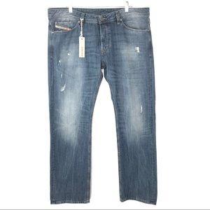Diesel Mens Viker Jeans Distressed Straight Button